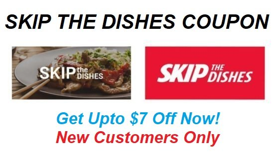 Upto $7 OffFor Skip The Dishes Referral Coupon & Voucher Codes For 2020